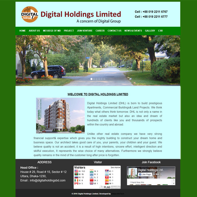 Real Estate & Land Developer  website Design